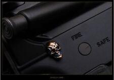 Steel Flame Jewelry Pin Royal Bronze Darkness Skull.