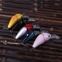 9cm Hard Minnow Fishing Lure 3D Eye 2 Jointed Crankbait Bait Wobbler Hook Tackle