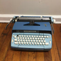 Vintage 60s Blue Smith Corona Coronet Electric Typewriter - Working Condition