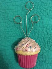 Pink Resin Cupcake W/Sprinkles 3 Photo Holder