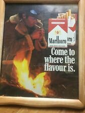 1970s Marlboro Cigarettes Magazine Advertisement - Framed