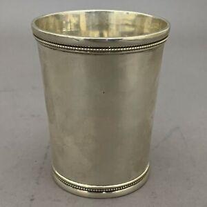 John Kitts Southern Coin Silver Mint Julep Cup Louisville Kentucky c.1870
