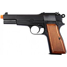 WE Tech Browning Hi-Power Gas Blowback Airsoft Pistol BLACK/WOOD