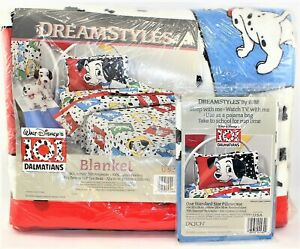 101 Dalmations Fashion Blanket 72x90 With Pillow Case New Twin Or Full Size