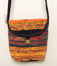 Hmong Hill Tribe Small Emroidered Orange Shoulder Bag