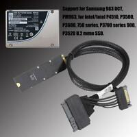 M.2 NVME PCIe to U2 Kit SFF-8639 SSD Adapter Cable For Intel 750 P4610 Mainboard