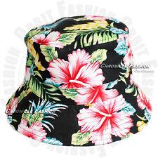 493594651eb7b Floral Bucket Hat Boonie Cap Camping Fishing Brim Visor Sun Safari Hawaiian