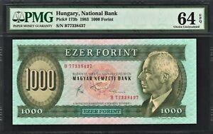 Hungary 1000 Forint 1983 - PMG 64 EPQ First Year! Ch UNC