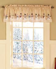 """Winter Wonders Multi Snowman Tailored Window Valance Size: 58"""" W x 15"""" L  - NEW"""