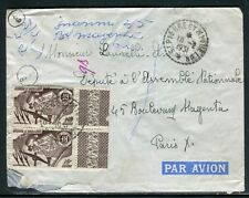 Saint Pierre et Miquelon - Enveloppe pour Paris en 1951 - ref D163