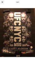 UFC 205 OFFICIAL Poster Signed By Card (SBC) - First Ever Fight in New York