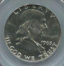 1963-D 50C -MS-64 FBL PCGS- Franklin Silver Half Dollar
