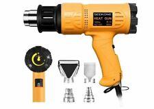 SEEKONE Heat Gun 1800W Heavy Duty Hot Air Variable Temperature Control 4 Nozzles
