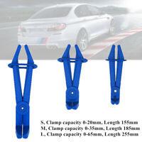 3x Blue Car Fuel Oil Tube Hose Pinch-Off Pliers Fuel Lines Sealing Curve Clamps