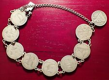 Rare 1887 United States Seated Liberty Dime Love Token Bracelet
