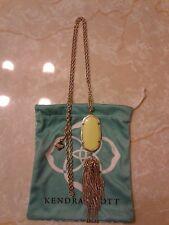 Kendra Scott Neon Yellow Gold Rayne Tassel Pendant Necklace Rare HTF