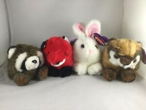 Puffkins Plush Lot Woodland Bandit Franklin Lucky Bunny Scooter 1997 1998 NWT
