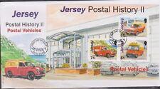 GB - JERSEY 2006 Postal History Part 2/Postal Vehicles Mini-Sheet SG MS1292 FDC