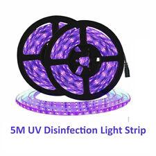 LED UV Light Strip Ultraviolet Flexible Purple 16FT Blacklight 5M 300LEDs