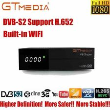 Gtmedia V9 Super fta satellite receiver H.265 DVB-S2 1080P Receptor Buit-in WIFI