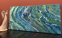 Green Glory - Modern Art Original Abstract Acrylic Pour Painting On Canvas
