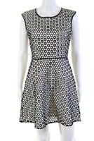 J Crew Womens Embroidered Eyelet Sleeveless Mini A Line Dress Size 2 Petite