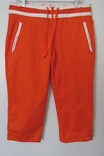 Nike Athletic 72 Orange w/ White Trim Capri Pants w/ Zip Pockets SIZE:M (8-10)