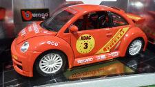 BURAGO MADE IN ITALY 1:18 AUTO DIE CAST VOLKSWAGEN NEW BEETLE CUP 2000 ART  3329