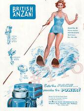 BRITISH ANZANI - UNITWIN - SUPER SINGLE - PILOT Marine Engine 1955 ADVERT