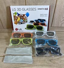 More details for lg cinema 3d glasses - set of 5 party pack - only used once - original packaging