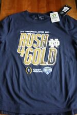 Notre Dame Men`s Blue Cotton Bowl Football Shirt by Under Armour size M
