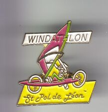RARE PINS PIN'S .. SPORT CHAR A VOILE WINDSURF WINDATHLON ST POL DE LEON 29 ~C7