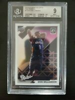 "2019 Optic ""The Rookies"" ZION WILLIAMSON RC  BGS 9 MINT  Pelicans"