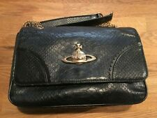 Vivienne Westwood vintage Bag Chain strap Black Croc Leather Used