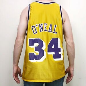 Champion LA Lakers Shaquille O'Neal Reversible #34 Mens Jersey Tank Size 40 VTG