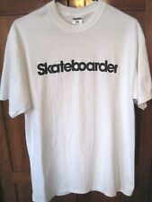 SKATEBOARDER White T Shirt Men's Size L NWOT