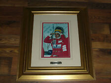 Signed Ayrton Senna Framed Mclaren Photo