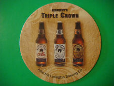 Beer Coaster: Alltech's Lexington Brewing ~ Kentucky 's Triple Crown Barrel Ales