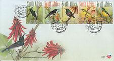 South Africa 2012 FDC Smallest Sunbirds 5v Strip Cover Birds Dusky Sunbird