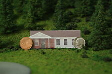 N scale BRICK METRO HOUSE photo background building flat