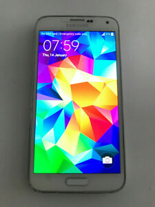 Samsung Galaxy S5 SM-G900F - 16GB - shimmery white (Virgin) Smartphone
