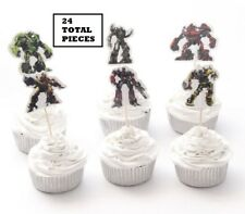24 pieces Transformers Cupcake Cake Toppers Decoration Kids Boys Birthday Party