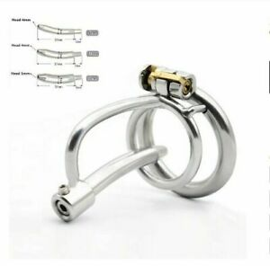 Stainless Steel Male Chastity Device Cock Lock Cage Metal Belt Restraint 8-12mm