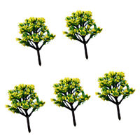 5pcs Miniature Dollhouse Bonsai Fairy Garden Landscape Resin Tree Decor #2