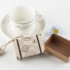 50Pcs Travel Theme Mini Suitcase Candy Box Kraft Paper Container Wedding Favor