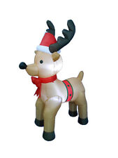 Christmas Inflatable Air Blown LED Yard Garden Party Decoration Reindeer Bow Tie