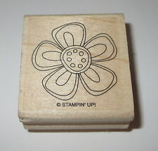 Flower Stampin' Up! Rubber Stamp Petals Pollen Wood Mounted Daisy Garden