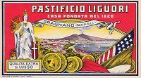 ETICHETTA PASTIFICIO LIGUORI, GRAGNANO, NAPOLI - FONDATA NEL 1820 -Q81