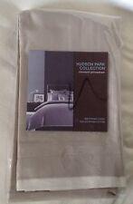 Hudson Park Pima-Cotton Solid Champagne Beige 500TC STD Pillow Sham Retail $100