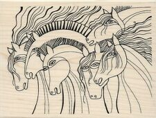 """""""Wild Horses"""" Rubber Stamp by Stampendous"""